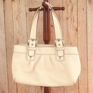 Coach cream leather soho shoulder bag